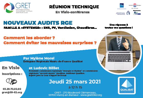 Réunion Audits RGE – 25 mars 2021